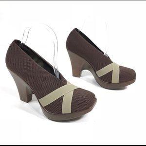 Charleston Shoe Company Mesh Wedge Heels